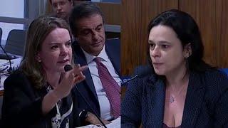 Gleisi Hoffmann perde o controle, manda Janaína Paschoal se calar e leva lição de moral
