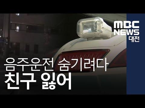 [대전MBC뉴스]음주운전 숨기려고...친구 뺑소니 숨져