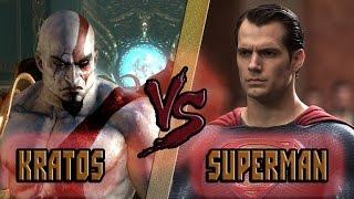 Кратос vs Супермен / Kratos (God of War) vs Superman (DC) - Кто Кого? [bezdarno]