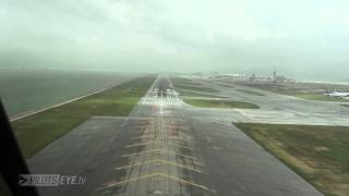 "PilotsEYE.tv - Hong Kong Approach - Appetizer ""HKG Typhoon Warning"""