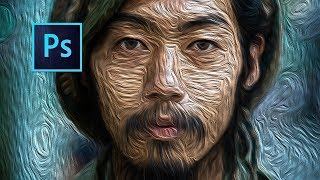 Photoshop cc Tutorial: How to use oil paint filter