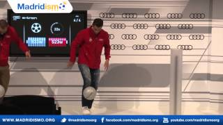 Cristiano Ronaldo Juggling the Ball on his Foot at the Audi Energy Competition