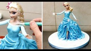 How To Make A Frozen Elsa Disney Princess Cake/Pastel Frozen