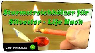 BESTE Sturmstreichhölzer für Silvester selber machen (storm matches) - Life Hack | Howto
