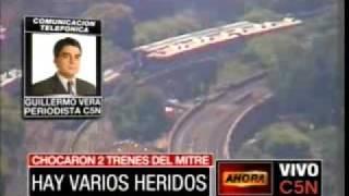 Vista aérea del choque de trenes Línea Mitre en Palermo - Viernes 31 /12/ 2010 - Parte 2
