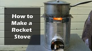 How to Make a Rocket Stove from a Coffee Can