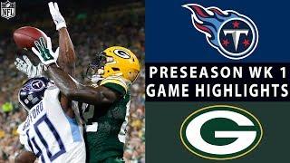 Titans vs. Packers Highlights   NFL 2018 Preseason Week 1