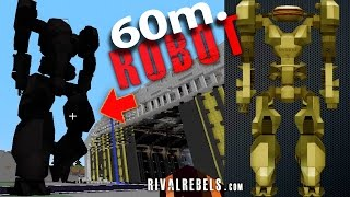 60m tall Nuclear Robot in Minecraft Mod