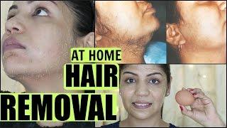 EGG Facial Hair Removal At Home Permanently | SuperPrincessjo