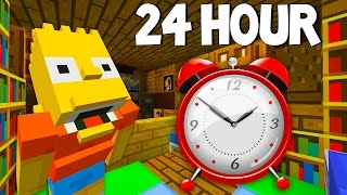Bart Simpson Gets Buried Alive | 24 Hour Challenge | The Simpsons |  Minecraft Xbox [50]