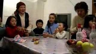 Kyrgyz family singing