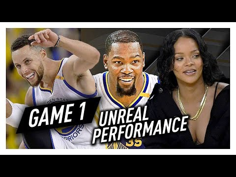 Kevin Durant & Stephen Curry Game 1 Highlights vs Cavaliers 2017 Finals - 66 Pts Total, EPIC!