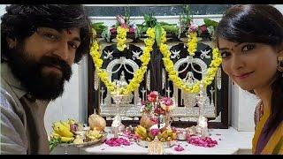 Rocking Star Yash and Radhika Pandit Ugadi Celebration