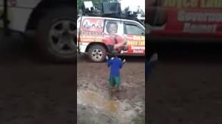 School girl dancing jubilee song