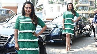 Rani Mukherjee's GRAND ENTRY Looking Like CUTE School Girl At Oye Hichki Song Launch - Hichki
