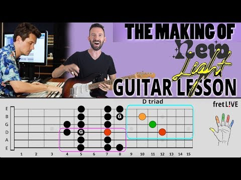 """John Mayer's """"New Light"""" ALL PARTS Guitar Lesson (IGTV) (The Making Of)"""