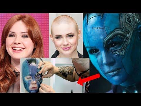 Xxx Mp4 Karen Gillan Transformation To Nebula Guardians Of The Galaxy Vol 2 Behind The Scenes 2017 3gp Sex