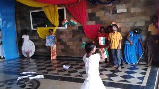 Satyam pallike song performance by boys at Independence day