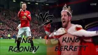 Wayne Rooney VS. King Barrett FULL STORY!  Appears On WWE RAW & Slaps CRAZY SCENES!