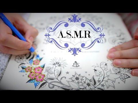 ASMR: Colorindo Papel com Lápis de Cor/Tapping/Whisper/Sussurros/VIDEO PARA RELAXAR E DAR SONO