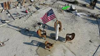 Hurricane Michael aftermath at ground zero from drone - Mexico Beach, FL - 10/16/2018
