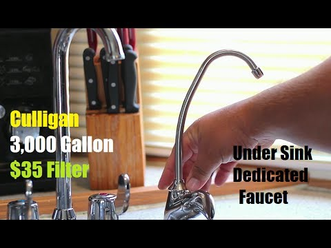 How To Install a Under The Sink Water Filter With Faucet Culligan EZ 1