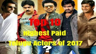 Top 10 Highest Paid South Actor Of 2017