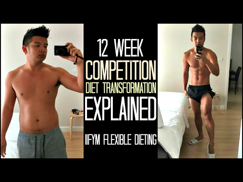 12 Week Competition Diet Transformation Explained IIFYM Flexible Dieting