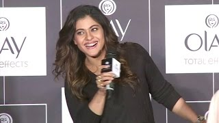 CUTE & Beautiful Kajol At Olay Total Effects New Cream Launch Full Video HD