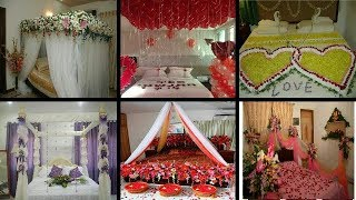 Most Beautiful First Night Wedding Bedrooms Decoration With Flowers,Wedding Room Decoration