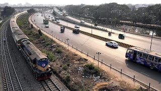 Silk City Express Train | সিল্ক সিটি এক্সপ্রেস ট্রেন | Bangladesh Railway  in 4K Ultra HD
