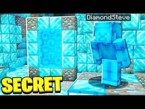 FOUND SECRET Diamond Steve MINECRAFT Portal
