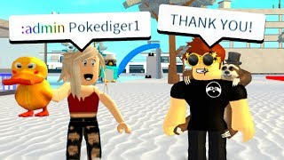 THE NEW OWNER GAVE ME ADMIN COMMANDS! (Roblox)