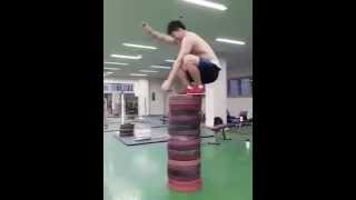 AMAZING JUMP SKILLS AT THE GYM