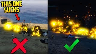 GTA Online: Smuggler's Run DLC - Which Bomb is the Best? (Explosive vs Cluster vs Incendiary vs Gas)