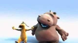 Funny Happy Hippo