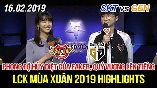[LCK 2019] SKT vs GEN Game 3 Highlights | Faker Zoe tỏa sáng rực rỡ, Kkoma phải chạy ra khen ngợi