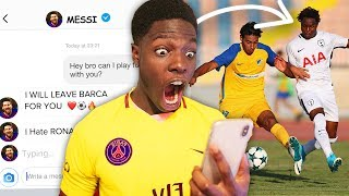HOW I GOT A PROFESSIONAL FOOTBALLER TO JOIN MY TEAM!!