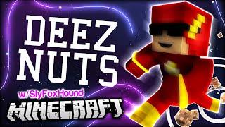 DEEZ NUTS!!! GOT EMMMMMM - I BECAME A SUPERHERO w/ SlyFoxHound ... in Minecraft (Super Minecraft #1)