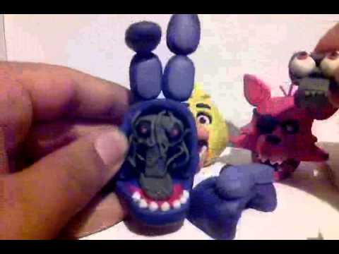 Five Nights at Freddy s Plasticine characters.