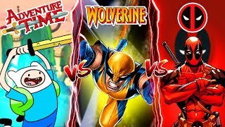 Minecraft ADVENTURE TIME FINN VS DEADPOOL VS WOLVERINE!! - WHOS IS YOUR FAVOURITE??