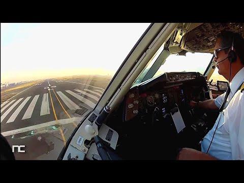 AeroMexico Boeing 767 Mexico City to New York JFK Cockpit Captain Side Cabina de Pilotos