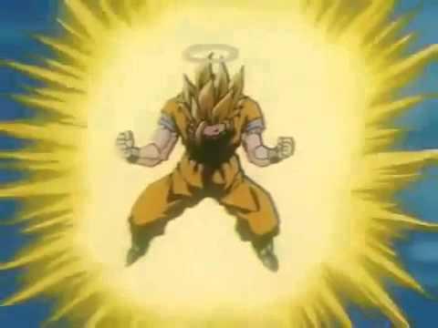 Dragon Ball Z Goku Si Trasforma in Super Sayan di Terzo Livello
