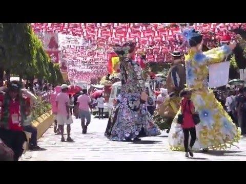 SINULOG FESTIVAL 2016 GIANT 20 FOOT HIGH PUPPETS HIGANTES CEBU PHILIPPINES.