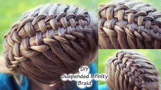How to : Suspended Infinity Braid on yourself   Braidsandstyles12