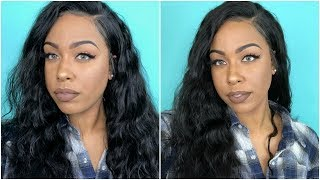 Lwigs 360 Deep Curly Lace Wig | How To Apply + Review | Christmas Sale! | TheHeartsandcake90