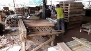 EverGreen WG Wood Pallet & Cable Drum Factory.wmv