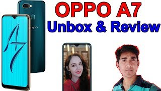 oppo a7 review & unbox.