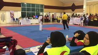 Taekwondo SUKIPT 2018- Wan Nurul Syaza VS Nurul Fatin Nabila