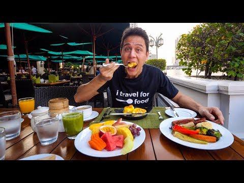Bangkok 5 Star Luxury Hotels MANDARIN ORIENTAL Full Suite Tour 10 Fruits for Breakfast